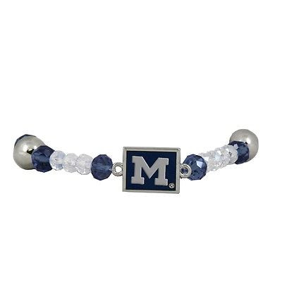 Michigan Wolverines Beaded Stretch Bracelet - BR2531610