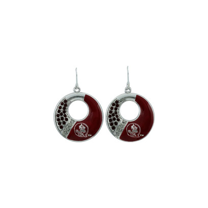 Florida State Seminoles Circle Color Earrings