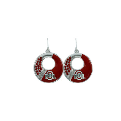 Ohio State Buckeyes Circle Color Earrings