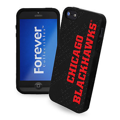 Chicago Blackhawks All Silicone IPHONE 5 soft cell phone cover/case