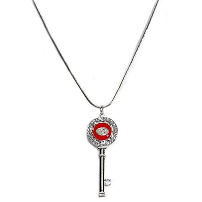 Georgia Bulldogs Silver Plated Necklace with Key Pendant