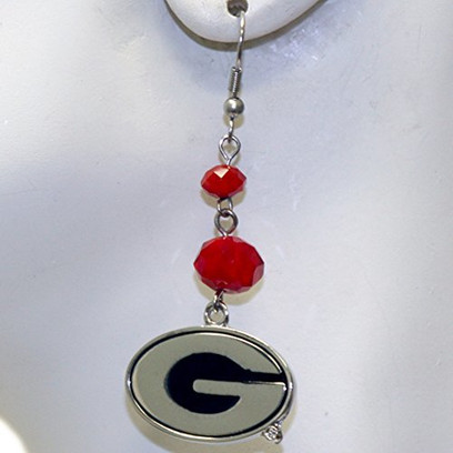 NCAA Georgia Bulldogs Ladies Beaded Dangle Earrings