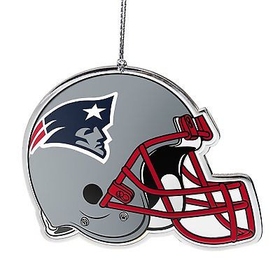 New England Patriots Flat Metal Helmet Ornament