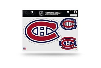 "Montreal Canadiens Team Magnet Set 8.5"" x 11"" Red"