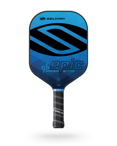 Selkirk 2021 Epic AMPED X5 Pickleball Paddle - Midweight - Sapphire Blue