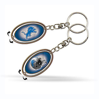 Official NFL Detroit Lions 2 inch Metal Spinner Keychain