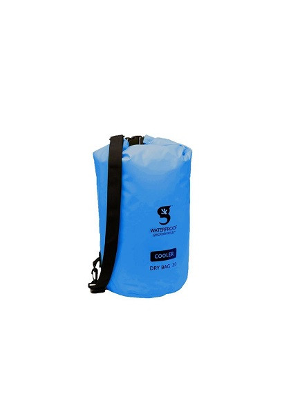 Geckobrands Waterproof Dry Bag Cooler - 30L - Blue