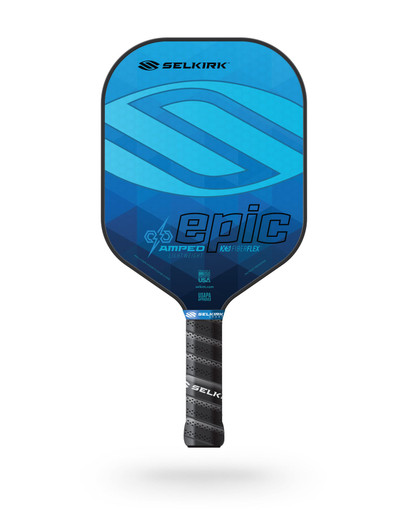 Selkirk 2021 Epic AMPED X5 Pickleball Paddle - Lightweight - Sapphire Blue