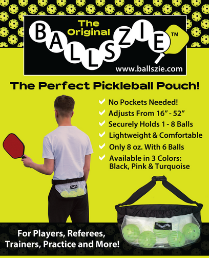 Ballszie - The Ultimate Pickleball Holder for Pickle Balls - Black