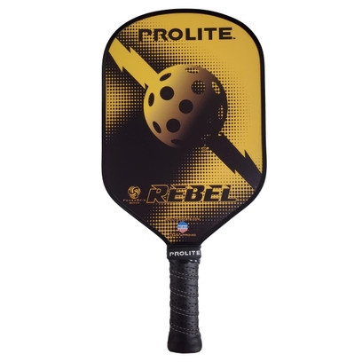 "Pro-Lite ""Rebel Power Spin"" Pickleball Paddle - Gold"