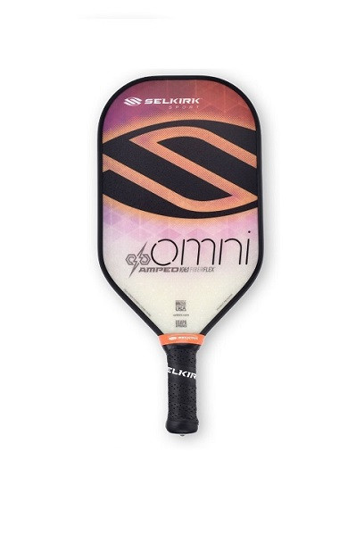 Selkirk Omni AMPED Elongated Paddle - Midweight - Fire Opal Orange