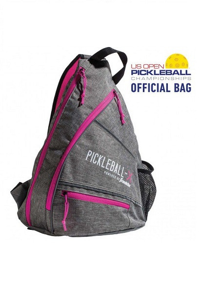Franklin Sports Elite Performance Sling Bag - Grey/Pink