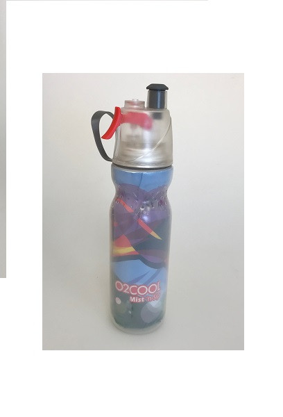 O2Cool Mist 'N Sip Arctic Squeeze Double Walled 20 oz Water Bottle - Graffiti