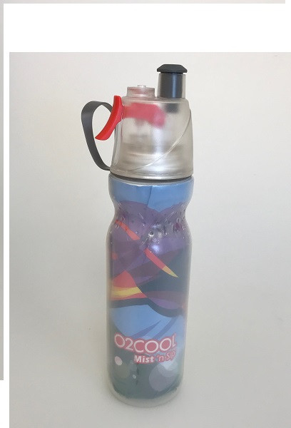 O2Cool Mist 'N Sip Arctic Squeeze Double Walled 20 oz Water Bottle - Wave C