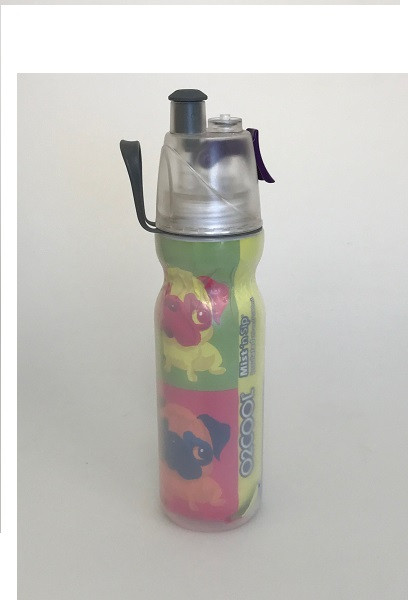O2Cool Mist 'N Sip Arctic Squeeze Double Walled 20 oz Water Bottle - Dog