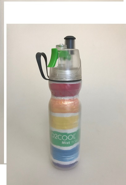 O2Cool Mist 'N Sip Arctic Squeeze Double Walled 20 oz Water Bottle - Watercolor A