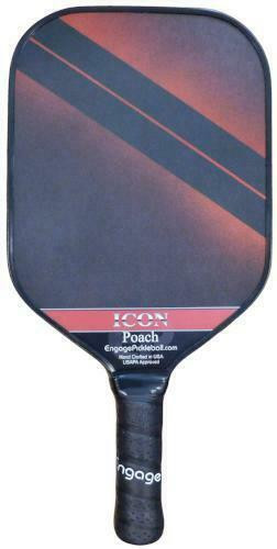Engage Poach Icon Midweight Pickleball Paddle - Red