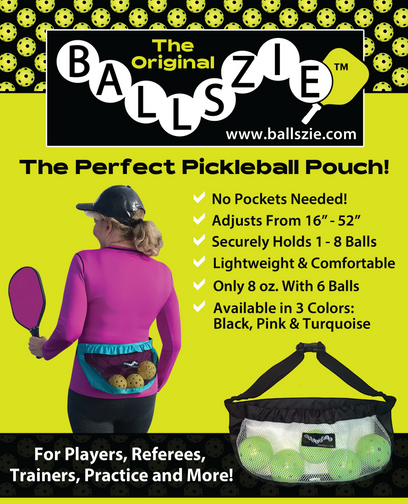 Ballszie - The Ultimate Pickleball Holder for Pickle Balls - Teal