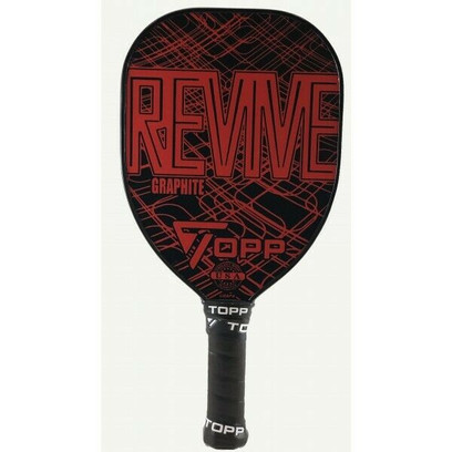 TOPP Revive Graphite Teardrop Pickleball Paddle - Red