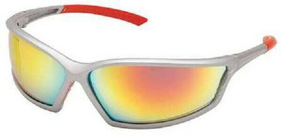 B - 4X4™ Safety Glasses Silver Frame And Mirror Scratch-Resistant Lens