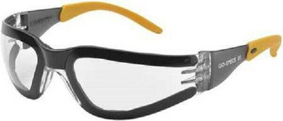D - Go-Specs III™ Safety Glasses Yellow Frame And Gray Anti-Fog Lens
