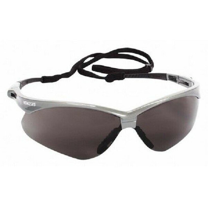 K - V30 Nemesis Safety Glasses With Silver Frame And Anti-Fog Lens