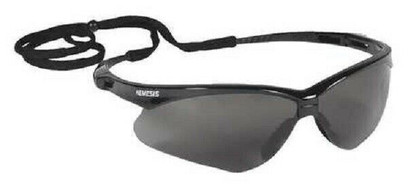 L - V30 Nemesis Safety Glasses With Gray Anti-Fog, Scratch-Resistant Lens