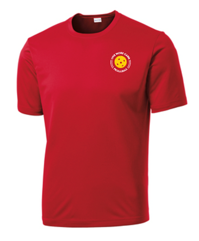 Mens Competitor, Moisture Wicking Tee - One More Game, Red, Extra Extra Large