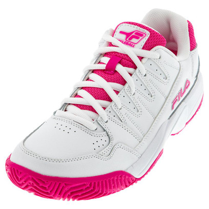 FILA Double Bounce Pickleball Shoes for Women - White/Pink