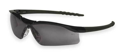 AC - Dallas™ Safety Glasses, Black Frame And Gray Scratch-Resistant Lens