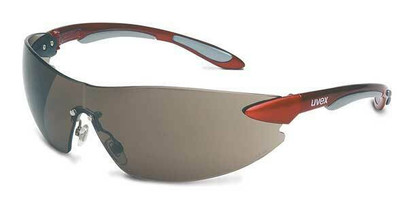 AB - Ignite™ Safety Glasses Metallic Red/Silver Frm, Gray Anti-Fog Lens