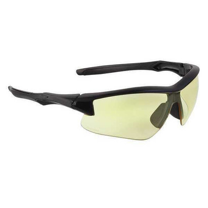 AH - Safety Glasses With Black Frame And Amber Anti-Fog Lens