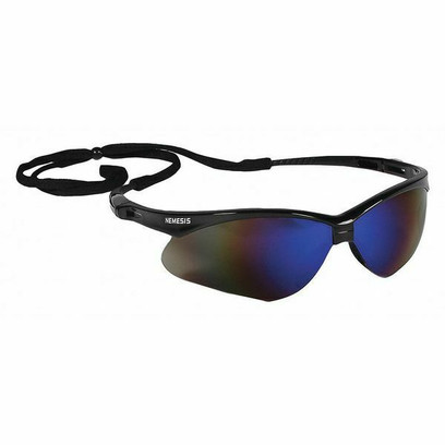 AD - V30 Nemesis Safety Glasses, Black Frame, Blue Scratch-Resist. Lens