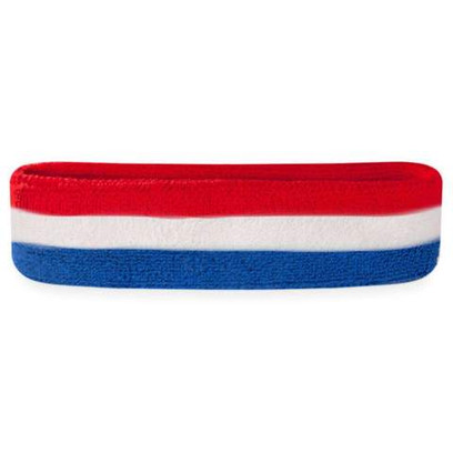 Head Sweatband - Red, White, and Blue