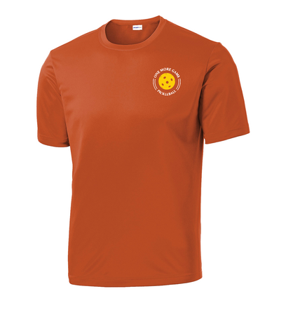 Men's Competitor, Moisture Wicking Tee - One More Game, Orange, Large