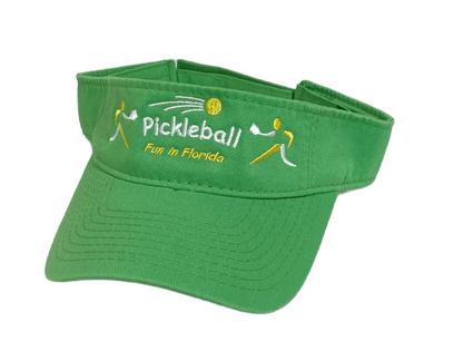 """Pickleball - Fun in Florida"" Visor - Green"