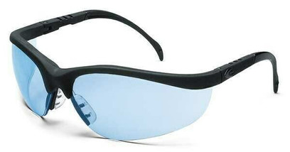 AJ - Nome™ Safety Glasses w/Black Frame and Blue Scratch-Resistant Lens