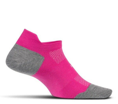 Feetures High Performance Cushion No Show Tab Socks - Medium Fuchsia