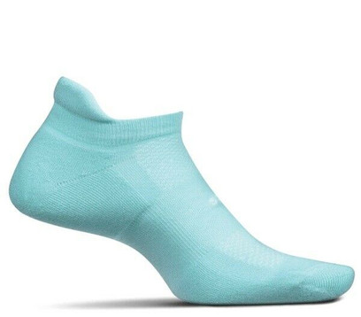 Feetures High Performance Cushion No Show Tab Socks - Medium Mint