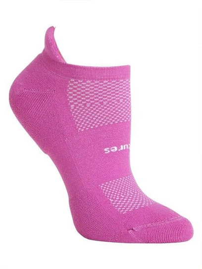 Feetures High Performance Cushion No Show Tab Socks - Medium Purple Addict