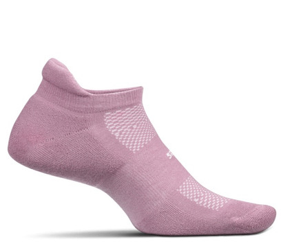 Feetures High Performance Cushion No Show Tab Socks - Medium Lilac