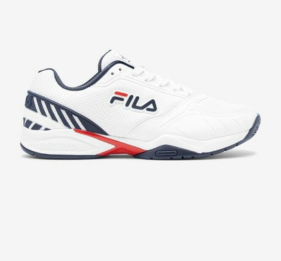 FILA Volley Zone Pickleball Court Shoes - Men's - Navy/Red/White