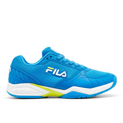 FILA Volley Zone Pickleball Court Shoes - Men's - Blue/Lime