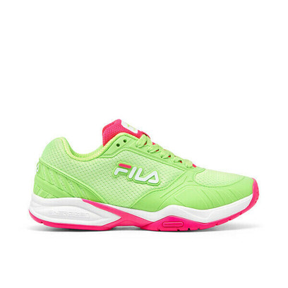 FILA Volley Zone Pickleball Court Shoes - Ladies - Lime/Pink