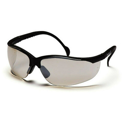B-8 - Pyramex Venture II Black Frame Safety Glasses w/ Indoor/Outdoor Lens