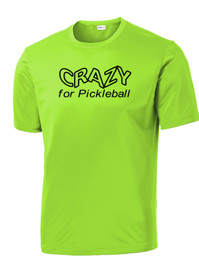 Men's Competitor, Moisture Wicking Tee - Crazy, Lime Shock