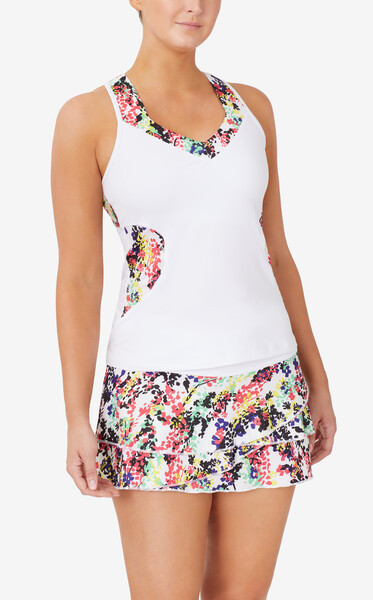 FILA Pickleball Halter Tank - White