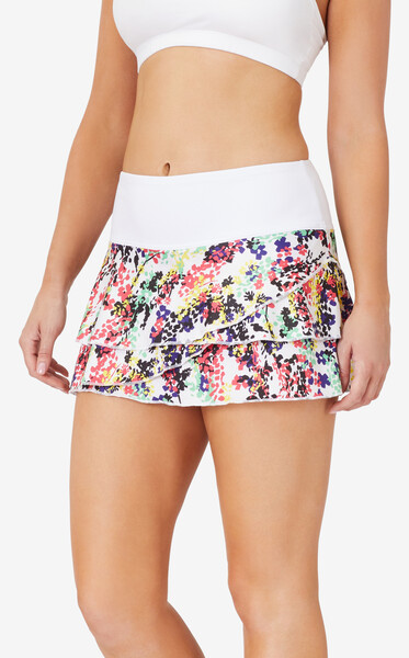 FILA Pickleball Tiered Printed Skort - White