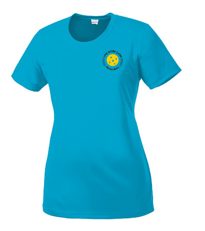 Ladies Competitor, Moisture Wicking Tee - One More Game, Blue, Large