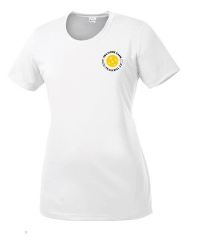 Ladies Competitor, Moisture Wicking Tee - One More Game, White, Small